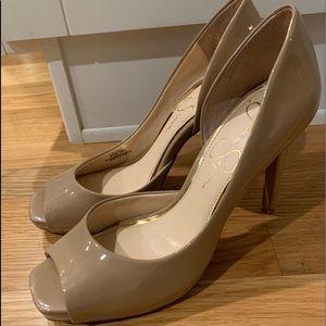 Jessica Simpson Beige Open Toe Heels